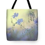 Blue Flex Flower. Nostalgic Tote Bag