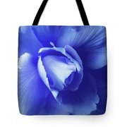 Blue Floral Begonia Tote Bag