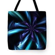 Blue Floral Fractal 12-30-09 Tote Bag