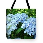 Blue Floral Hydrangea Flower Summer Garden Basle Troutman Tote Bag
