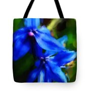 Blue Flower 10-30-09 Tote Bag