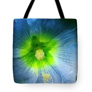 Blue Flower In Morning Sun Tote Bag