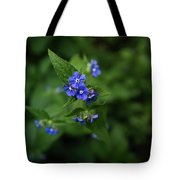 Blue Flower In Spring Tote Bag