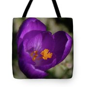Blue Flower Opening Tote Bag