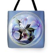 Blue Flower Orb Tote Bag