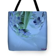 Blue Flower Vase Tote Bag