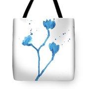 Blue Flowers 1 Tote Bag