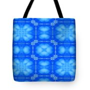 Blue Flowers Abstract Tote Bag