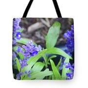 Blue Flowers B5 Tote Bag