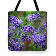 Blue Flowers Card Tote Bag