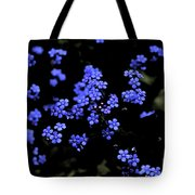 Blue Flowers Floating Tote Bag
