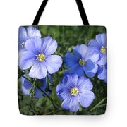 Blue Flowers In The Sun Tote Bag