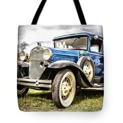 Blue Ford Model A Car Tote Bag