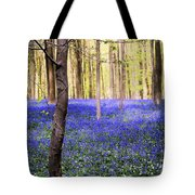 Blue Forest In Shadow Tote Bag