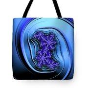 Blue Fractal Art Curved And Elegant Tote Bag