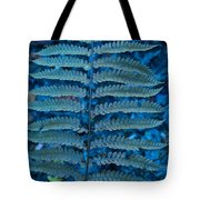 Blue Frond Tote Bag