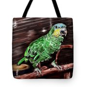 Blue-fronted Amazon Parrot Tote Bag