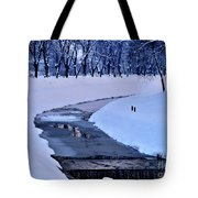 Blue Frozen River Tote Bag