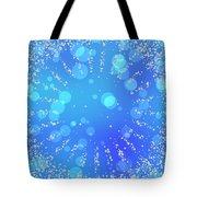 Blue Frozen Window Tote Bag