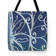 Blue Gate Mosaic Tote Bag