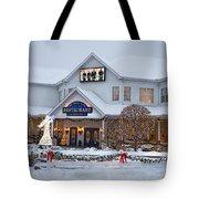 Blue Gate Restaurant Shipshewana In Winter Tote Bag