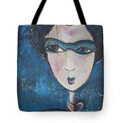 Blue Geisha Love Detail Tote Bag