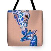 Blue Giraffes 2 Tote Bag