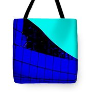 Blue Glass Abstract Tote Bag
