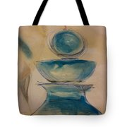Blue Glass Tote Bag by Gregory Dallum