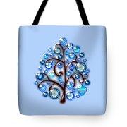 Blue Glass Ornaments Tote Bag