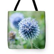 Blue Globe Thistle Flower Tote Bag