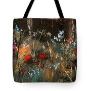 Blue Grass And Wild Flowers Tote Bag