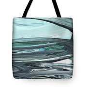 Blue Gray Brush Strokes Abstract Art For Interior Decor V Tote Bag