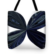 Blue, Green And Black Butterfly Astract Tote Bag