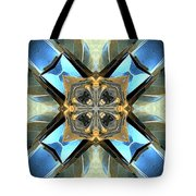 Blue, Green And Gold Abstract Tote Bag
