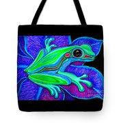 Blue Green Frog Tote Bag