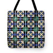 Blue Green Lisbon Tiles Souvenirs Tote Bag
