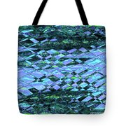 Blue Green Ocean Abstract Tote Bag
