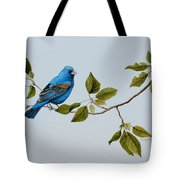 Blue Grosbeak Tote Bag