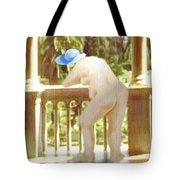 Blue Hat Tote Bag