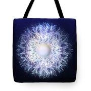 Blue Haze Petals Tote Bag