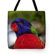 Blue Head Bird Tote Bag