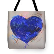 Blue Heart 126 Tote Bag