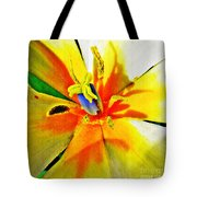 Blue Heart Of The Tulip Tote Bag
