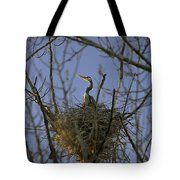 Blue Heron 30 Tote Bag by Roger Snyder