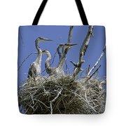 Blue Heron 36 Tote Bag by Roger Snyder