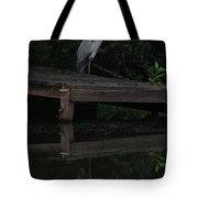 Blue Heron At Dusk Tote Bag
