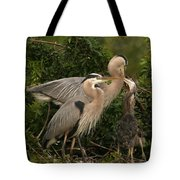 Blue Heron Family Tote Bag