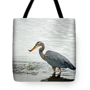 Blue Heron Fishing Tote Bag
