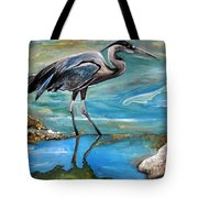 Blue Heron I Tote Bag